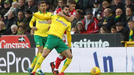 Nelson Oliveira was on loan at Nottingham Forest before moving to Norwich. Picture: Paul Chesterton/