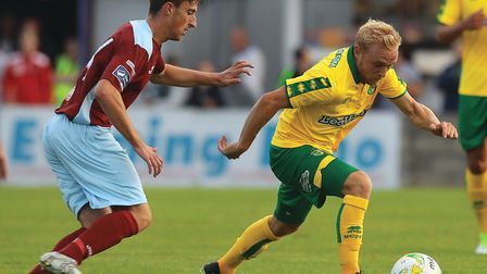 Alex Pritchard got only limited game time during Norwich City's pre-season, before an ankle injury s