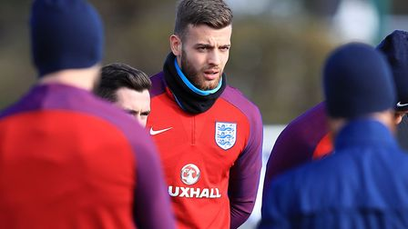 England goalkeeper Angus Gunn during an England training session at Enfield Training Ground, London,