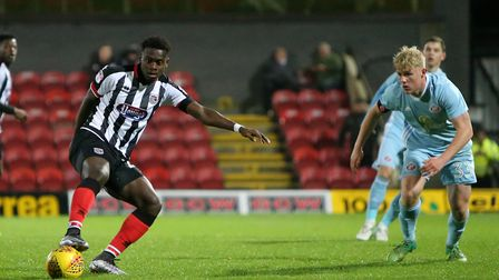 Norwich City youngster Diallang Jaiyesimi has been on loan at Grimsby this season. Picture: GTFC.co.