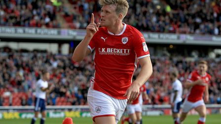 Barnsley's Cameron McGeehan, here scoring his first goal for the Tykes, cannot wait for the chance t