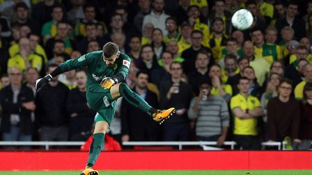 Angus Gunn in action for Norwich. Picture: Paul Chesterton/Focus Images Ltd