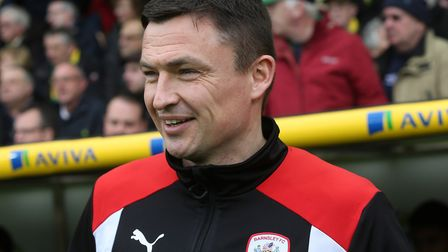 Barnsley manager Paul Heckingbottom is being linked with the Sunderland vacancy. Picture by Paul Che