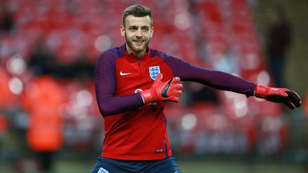 England goalkeeper Angus Gunn before the Bobby Moore Fund International match at Wembley Stadium, Lo