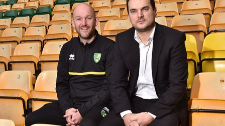 Norwich City academy manager Steve Weaver (left) with sporting director Stuart Webber, still have h