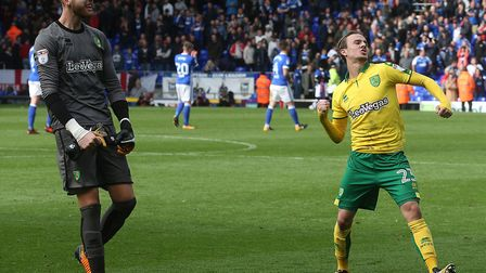 Could Angus Gunn, left, and James Maddison make it to the World Cup with England next summer? Pictur