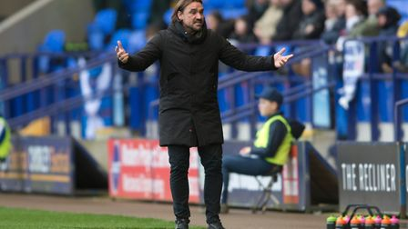 Norwich City Head Coach Daniel Farke expresses his frustration during the Sky Bet Championship match