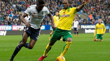 Bolton Wanderers forward Sammy Ameobi proved a nuisance for Norwich City. Picture: Russell Hart/Focu