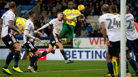 Cameron Jerome endured a difficult afternoon against the Trotters. Picture: Focus Images