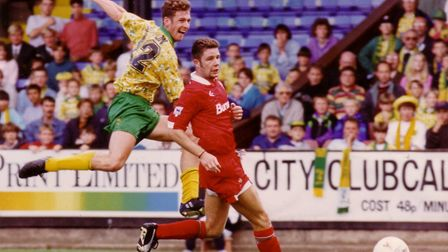 Chris Sutton in action for Norwich City. Picture: Archant