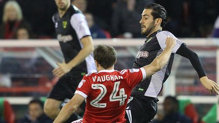 Mario Vrancic was involved far more at the City Ground than recent Norwich City games. Picture: Paul