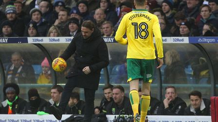 Daniel Farke shows off his ball skills at Leeds... can he get the best out of his players? Picture: