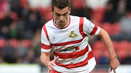 Harry Toffolo in action for loan club Doncaster Rovers. Picture: Howard Roe/AHPIX.com