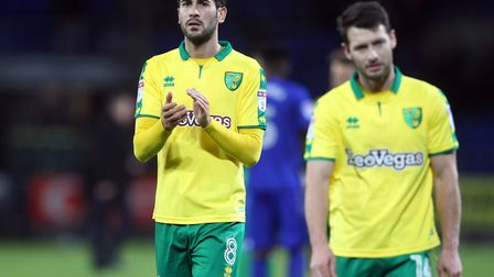 The faces of Mario Vrancic and Wes Hoolahan tell the story, as they acknowledge the Norwich CIty fan