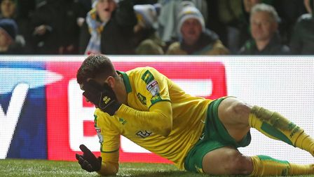 Nelson Oliveira reacts after a coming together with Pontus Jansson. Picture: Paul Chesterton/Focus I