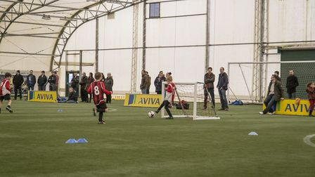 The 'dome' at Norwich City's training centre at Colney is where many youngsters nurture their skills