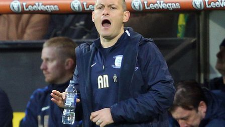 Preston manager Alex Neil during the Sky Bet Championship match at Carrow Road, Norwich. Picture by