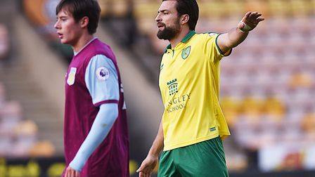Russell Martin playing against Aston Villa U23s. Picture: Ian Burt
