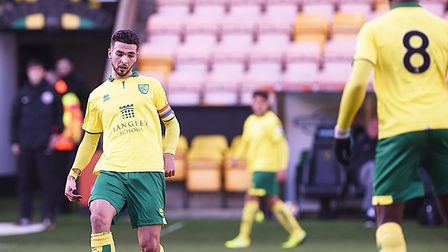 Adam Phillips captained the Norwich City U23s side that faced Aston Villa at Carrow Road. Picture: I
