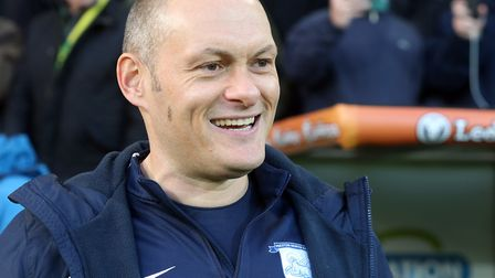 Preston North End manager Alex Neil carries a smile on his return to Carrow Road, to face his former