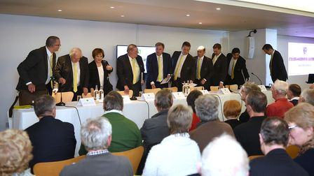 Top table - last year's City AGM. Picture: ANTONY KELLY