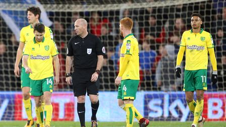 The Norwich City players - including Harrison Reed - cut dejected figures after conceding their thir