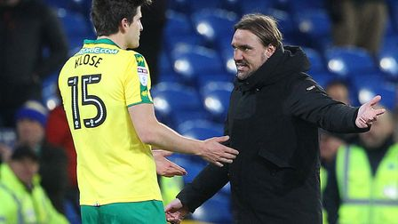 Daniel Farke was raging at the award of two penalties to Cardiff City. Picture: Paul Chesterton/Focu