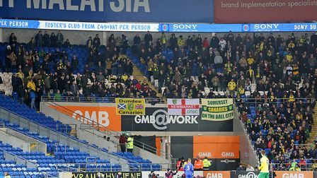 More than 600 Norwich City fans make the long trek west to see their side surrender at Cardiff. Pict