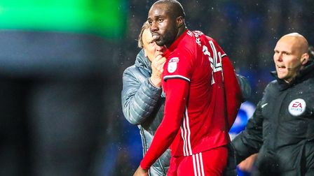 Cardiff City defender Sol Bamba is a major set piece. Picture: Steve Waller