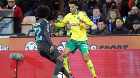 Jamal Lewis on the pitch for Norwich City. Picture: Paul Chesterton/Focus Images