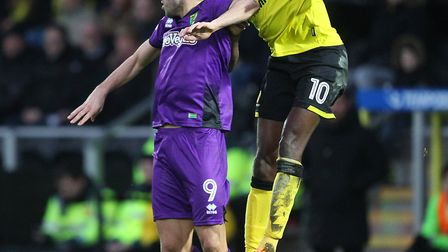 Nelson Oliveira - not winning another header. Picture: Paul Chesterton/Focus Images Ltd