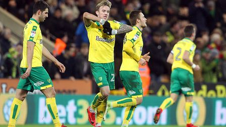 James Maddison bowling the fans over after his goal against Millwall. Picture: Paul Chesterton/Focus