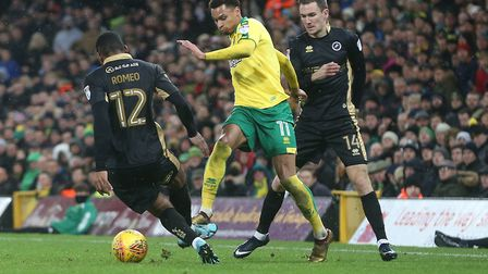 Josh Murphy on the ball, running at opponents - just how we like to see him. Picture: Paul Chesterto