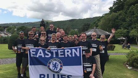 The Eastern Blues' charity work included climbing Mount Snowdon in June last year, raising over £5,0