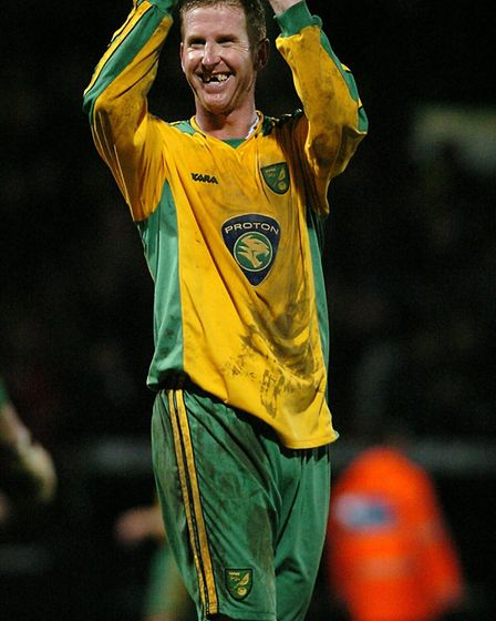 Iwan Roberts celebrates after his goal earned City a huge win over Sheffield United in January, 2004