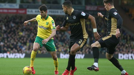 Nelson Oliveira's lack of goals has contributed to Norwich being well off the pace. Picture: Paul Ch