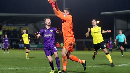 Burton keeper Stephen Bywater was rarely troubled by City. Picture: Paul Chesterton/Focus Images Ltd