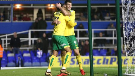Josh Murphy celebrates his goal at Birmingham with Nelson Oliveira. Will they still be here this tim