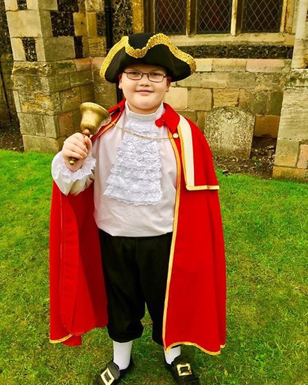 Thetford's Young Town Crier 11-year-old Harry Turburville. Picture: Joe Cunnell