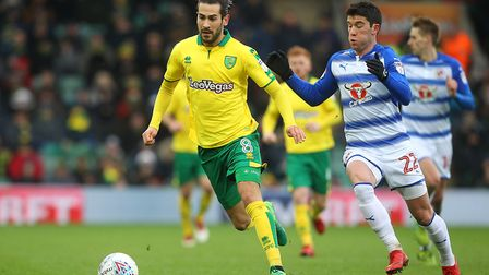Mario Vrancic played a key part in Norwich City's 3-2 win over Reading. Picture: Paul Chesterton/Foc