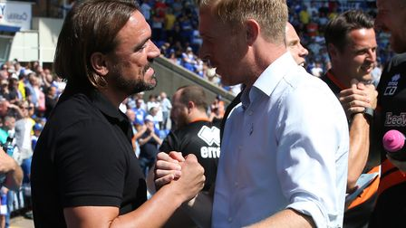 It was honours even when Daniel Farke and Garry Monk met on the opening day of the season Picture: P