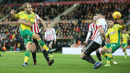 Teemu Pukki notches his 17th league goal of the season for Norwich City in a 2-2 draw against Sheffi