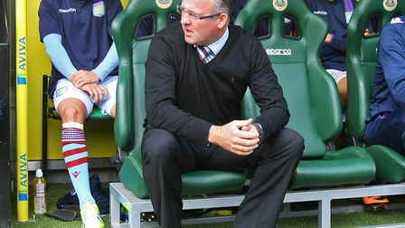 Paul Lambert returns to Carrow Road as Aston Villa boss for the first time. Picture: Paul Chesterton