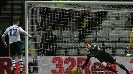 Tim Krul came within a whisker of keeping out Paul Gallagher's penalty during Norwich City's 3-1 def
