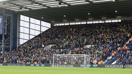 Norwich City's biggest away following of the season so far was the 2,700 who made the trip to West B