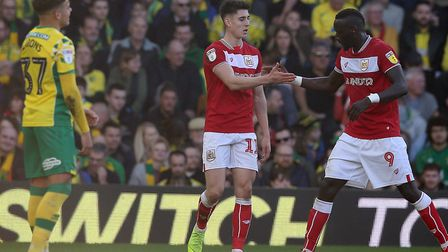 Callum O'Dowda had put Bristol City back in front at Norwich City with a fine individul goal Picture