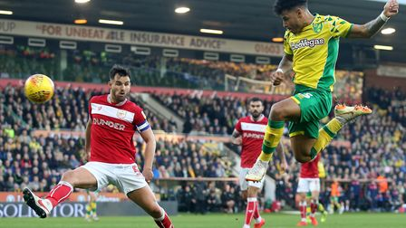 Onel Hernandez was thwarted at the far post in the second half of Norwich City's 3-2 comeback agains