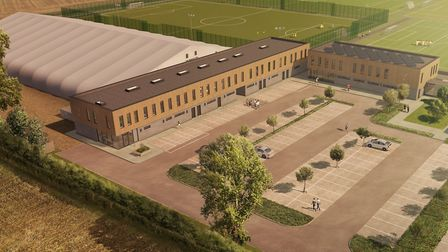 An artist's impression of the proposed new academy facilities at Colney, which have been funded by t
