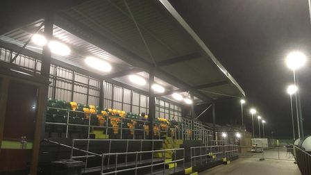The new spectator seating at Norwich City's Colney Training Centre Picture: David Freezer/Archant
