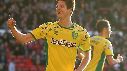 Timm Klose scored two headers as Norwich fought back to win at Nottingham Forest in October Picture: